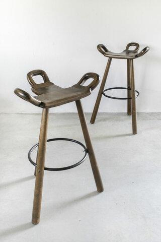 Muebles y objetos de Escandinavia: Taburetes (Carl Malmsten)