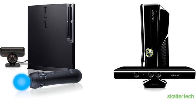 Mandos Playstation Move, Microsoft kinect