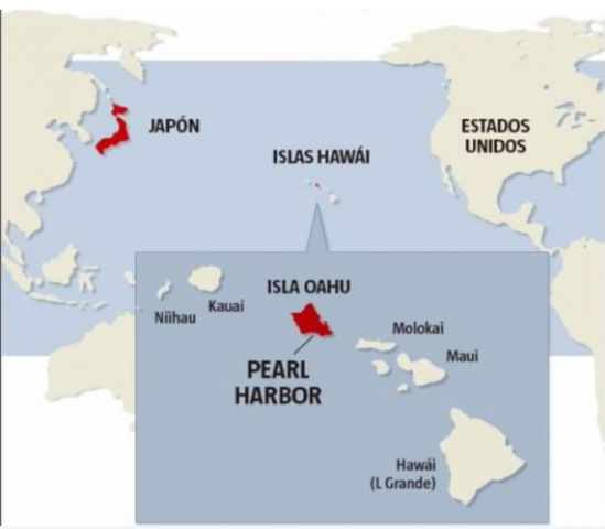 Japón ataca la base norteamericana de Pearl Harbour. Estados Unidos añade al conflicto.