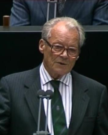 Willy Brandt dichiara alla CdN la nascita della Repubblica Federale Tedesca.