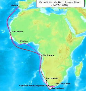 Bartomeu Dias accedeix a l'Índic