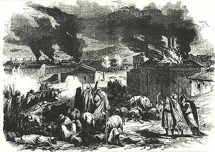 Battle of Bordj Bou Arreridjj & beginning of the Mokrani Revolt in Algeria led by Mohamed Amokrane/Cheik Mokrani