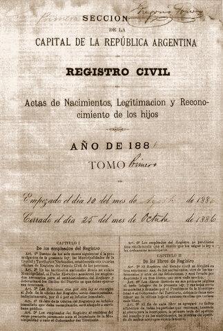 1565 Creación del Registro Civil