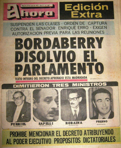 Uruguay; Disolución de parlamentos