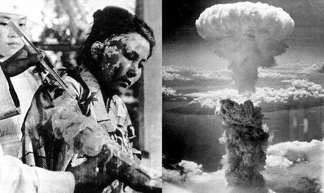 Explosión de las primeras bombas atómicas en Hiroshima y Nagasaki.