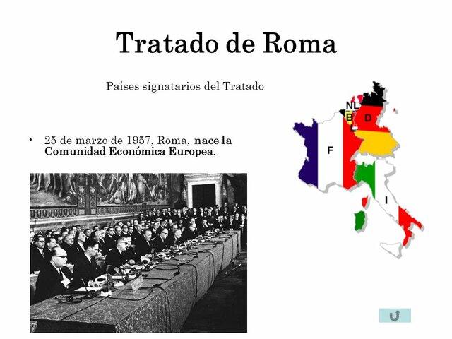 Tratado de Roma, se crea la Comunidad Económica Europea