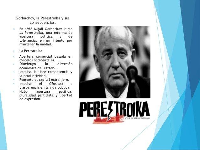 Gorbachov inicia la Perestroika