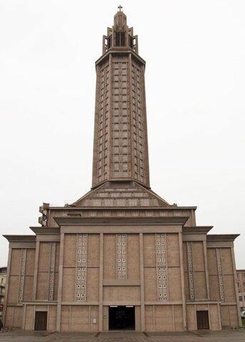 La iglesia de San José en El Havre, por Auguste Perret.