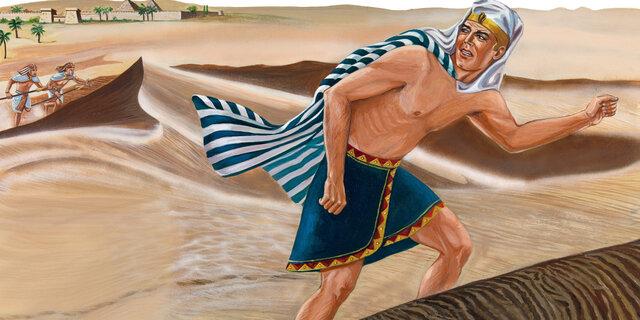 Moisés foge do Egito