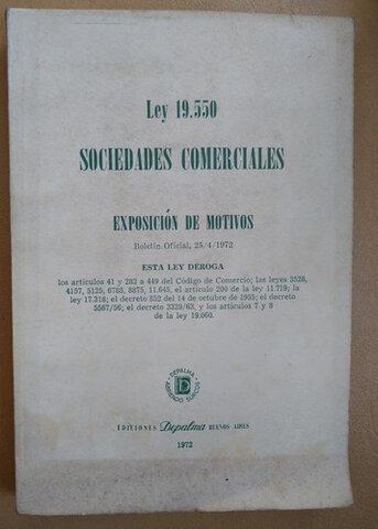 SANCIÓN DE LA LEY Nº 19.550