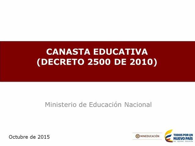 Decreto 2500 de 2010