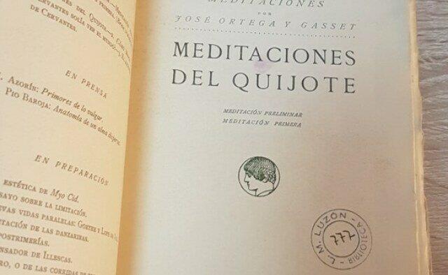 Publicación de Meditaciones del Quijote