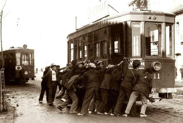 Vaga de tramvies a Barcelona