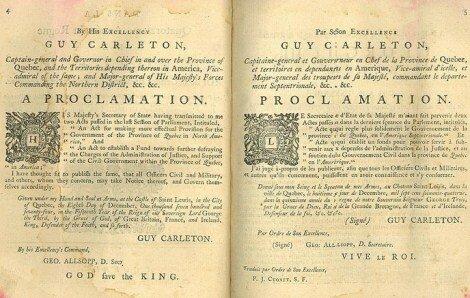 L'Acte constitutionnel (une troisième constitution) remplace l'Acte de Québec