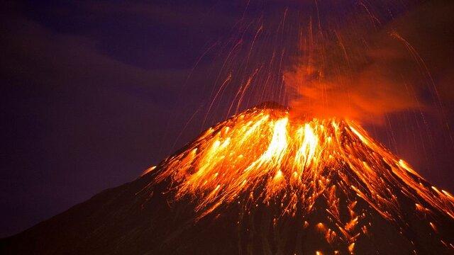 Massive volcanic activity occurs