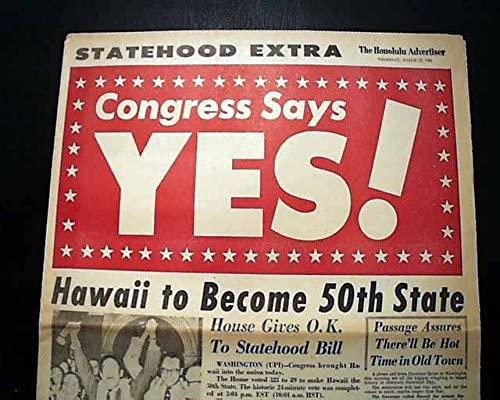 Eisenhower ammette le Hawaii come 50° Stato degli Stati Uniti d'America