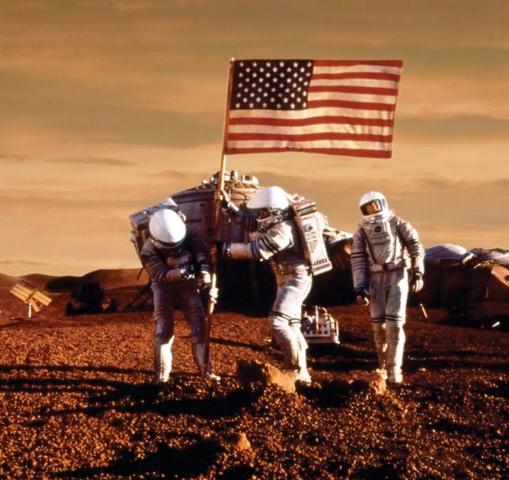 Sbarco mediterraneo-statunitense su Marte