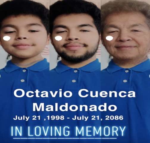 8.1 The End - Octavio Cuenca Maldonado, a devoted husband, and father of three children, passed away peacefully on his 88th birthday from liver failure in his hometown of Selb, Delaware.