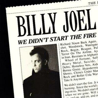 WE DIDN'T START THE FIRE lyrics timeline