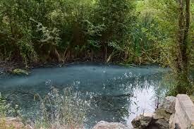 Vertidos en el río iregua tiñen el agua de azul
