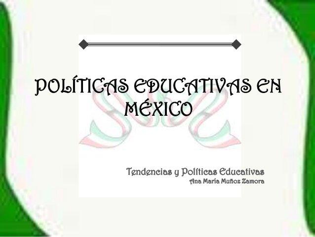 Conclusiones: México en la política educativa internacional