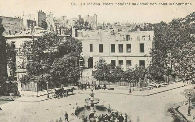 The Commune's Committee of Public Safety decides to destroy the Paris home of Adolphe Thiers