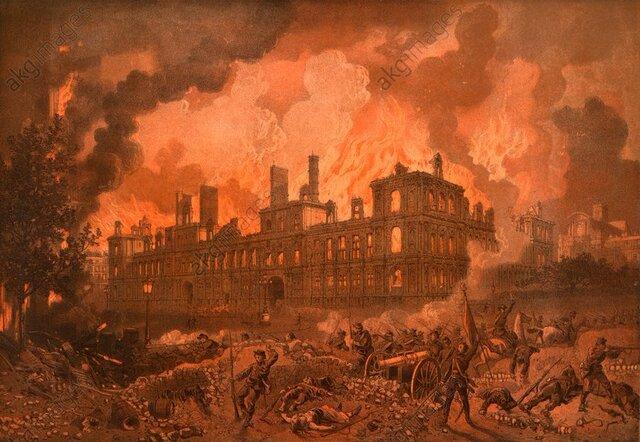 The Hôtel de Ville goes up in flames