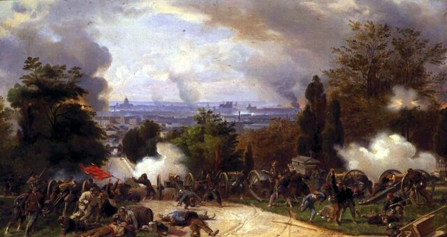 Final battles as the last barricades of the Commune fall to Versailles