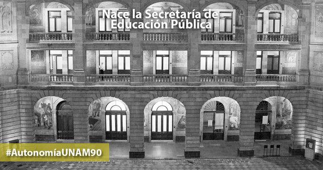 Fundación de la Secretaría de educación publica