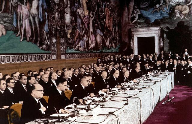 Firman los Tratados de Roma