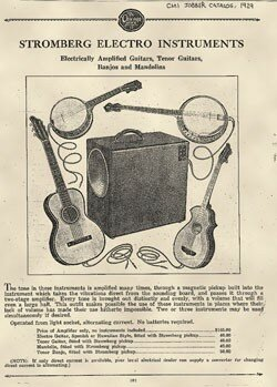 First electrified guitars invented