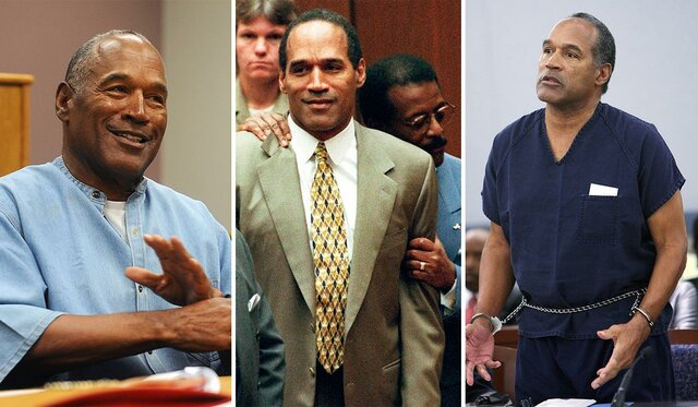 """•O.J. Simpson's """"Trial of the Century"""" (1995)"""