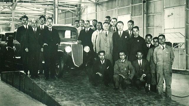 Yoshisuke Aikawa, William Gorham, Masujiro Hashimoto, Rokuro Aoyama