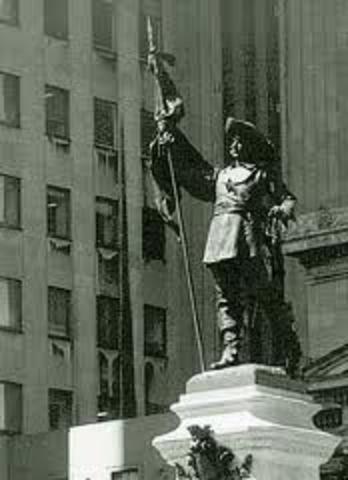 Paul Chomedy De Maisonneuve discovers Montreal