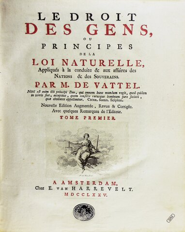 """Se publica """"Le Droit Des Gens de Emer de Vattel"""""""