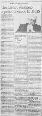 1991 renuncia de Gorbachov al frente de la Unión Soviética la URSS se desmantela