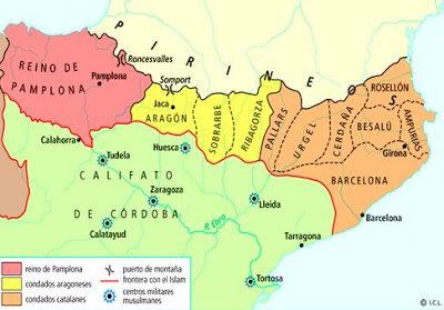 Los condados de Aragón, Sobrarbe y Ribagorza se desvinculan de los carolingios