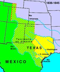 Consecuencias de la Independencia de Texas: Despojo territorial mexicano