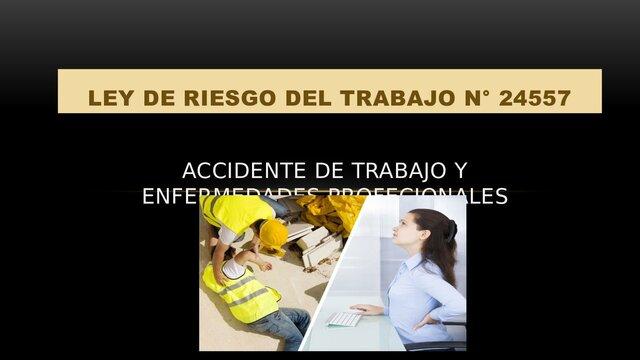 Ley de riesgo de trabajo