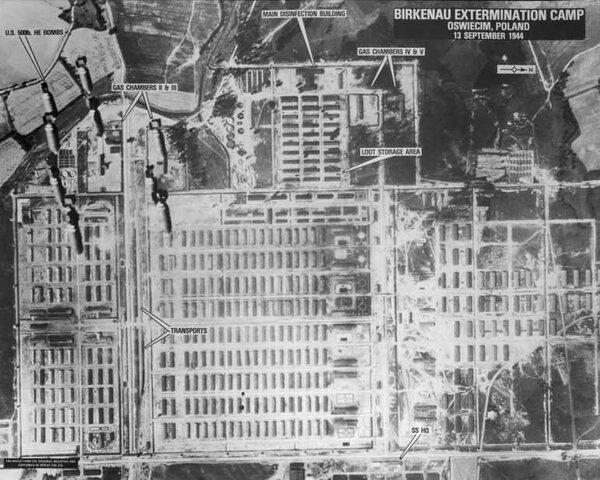 Allied Forces Spot Auschwitz