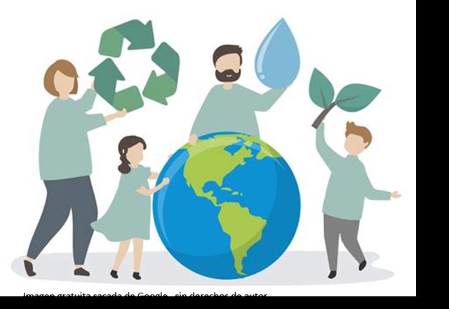 Cuidando el planeta tierra (caring for the earth).