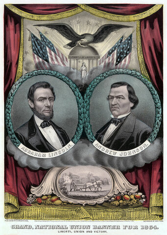 Abraham Lincoln wins re-election