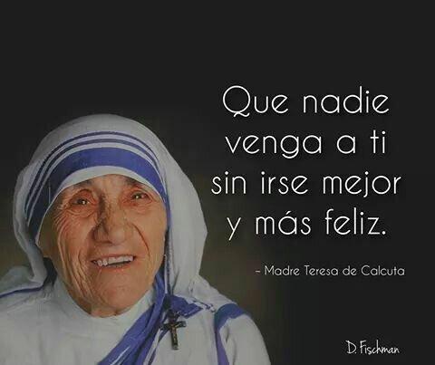 Premio Nobel de la paz, Teresa de Calcuta.