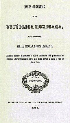 Bases de la Organización Política de la República Mexicana