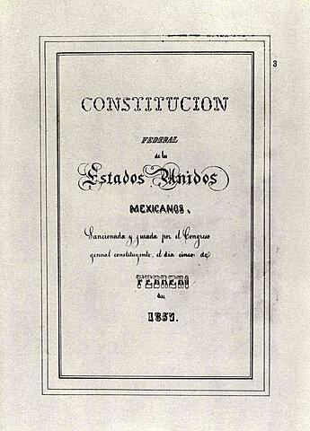 Constitución Política de la República Mexicana