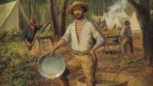 The beginning of the great Australian gold rush.