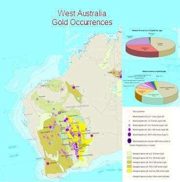 First discoveries of gold in WA