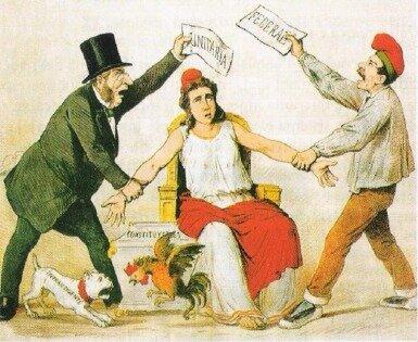 Guerra Civil entre Centralistas y Federalistas.