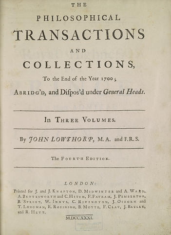 Walter Pope - Publica Philosophical transactions