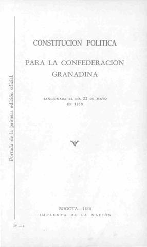 Constitución de la Confederación Granadina.